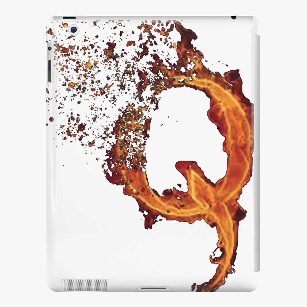 QAnon Fiery Q For Conspiracy Lightning Theorist Camiseta de Scralandore Design Funda y vinilo para iPad