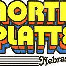 North Platte, Nebraska | Retro Stripes by retroready