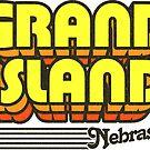 Grand Island, Nebraska | Retro Stripes by retroready