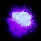 Realistic ultraviolet explosion with sparks and smoke by Lukasz Szczepanski