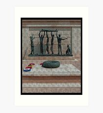 National Armed Forces Memorial Staffordshire England Uk Art Print