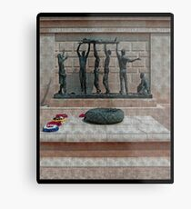 National Armed Forces Memorial Staffordshire England Uk Metal Print