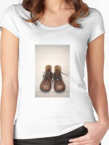 Baby Brogue Boots Women's Fitted Scoop T-Shirt