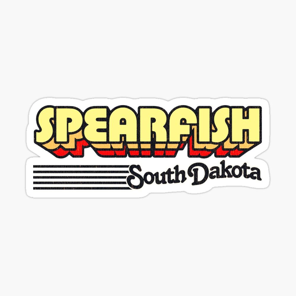 Spearfish, South Dakota   Retro Stripes Sticker