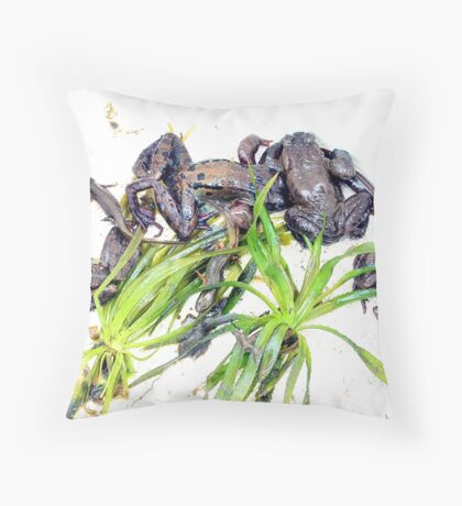 Froggy Furore #1 Throw Pillow