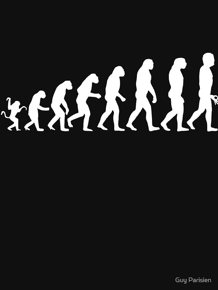 Finger-Kreis-Spiel-T-Shirt Evolution von plante0102
