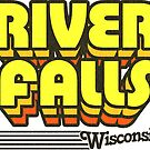River Falls, Wisconsin | Retro Stripes by retroready