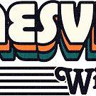 Janesville, Wisconsin | Retro Stripes by retroready