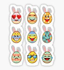 Funny Easter Egg Emoji T-shirt, Easter T-Shirts Sticker