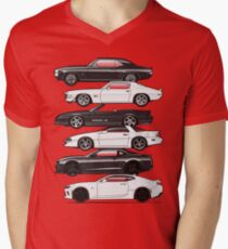 Six Gen Camaros Men's V-Neck T-Shirt