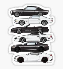 Six Gen Camaros Sticker
