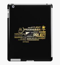 Typography Programming iPad Case/Skin