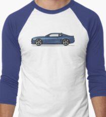 Blue V8 Men's Baseball ¾ T-Shirt