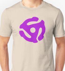Purple 45 Vinyl Record Symbol Unisex T-Shirt