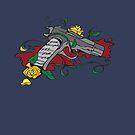 Gun and Roses by bettinadreier75