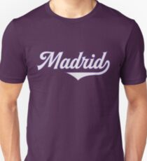Madrid City - Spain - Espana - Capital - Vintage Sports Typography Unisex T-Shirt