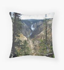 Lower Falls Yellowstone NP Throw Pillow