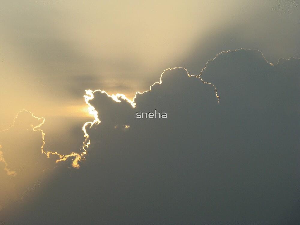 "every dark cloud has a ""golden"" lining!! by sneha"
