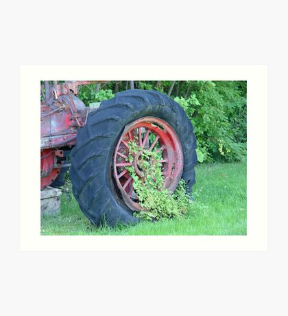 Tractor:  Retired Art Print
