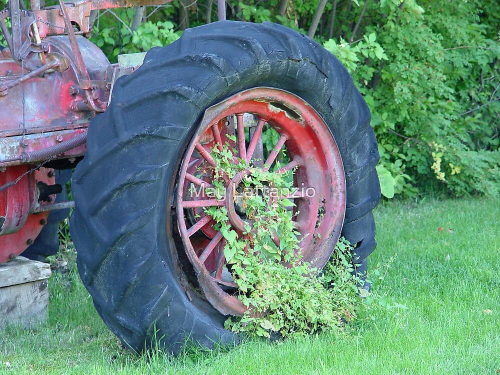 Tractor:  Retired by May Lattanzio