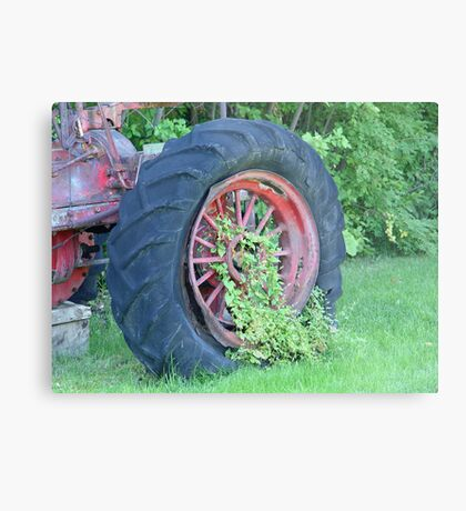 Tractor:  Retired Metal Print