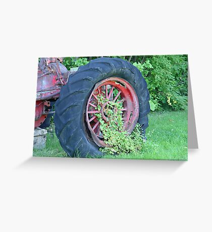 Tractor:  Retired Greeting Card