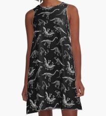 Dinosaur Skeletons A-Line Dress