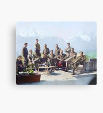 Dick Winters and his Easy Company (HBO's Band of Brothers) lounging at Eagle's Nest, Hitler's former residence in the Bavarian Alps, 1945.  Metal Print
