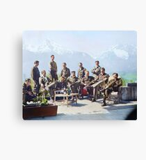 Dick Winters and his Easy Company (HBO's Band of Brothers) lounging at Eagle's Nest, Hitler's former residence in the Bavarian Alps, 1945.  Canvas Print