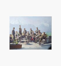 Dick Winters and his Easy Company (HBO's Band of Brothers) lounging at Eagle's Nest, Hitler's former residence in the Bavarian Alps, 1945.  Art Board Print