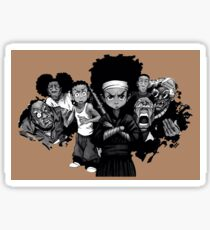 Boondocks the whole gang Sticker
