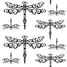 Dragonfly Tribal Pattern by bettinadreier75