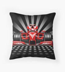 Formula 1 Red Race Car Throw Pillow