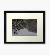 snow uk 2018 tree tunnel beast from the east  Framed Print