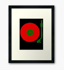 Red Green DJ Vinyl Record Turntable Framed Print