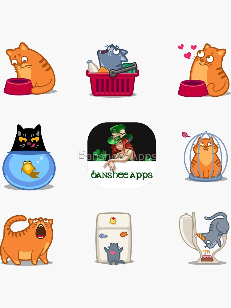 Funny Cat Sticker Pack 3 by Banshee-Apps
