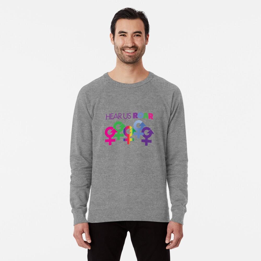 Hear Us ROAR - Women's March Alliance Lightweight Sweatshirt Front
