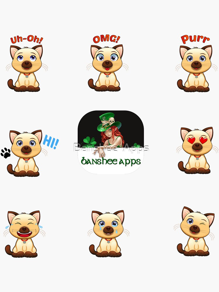 Funny Cat Sticker Pack 2 by Banshee-Apps