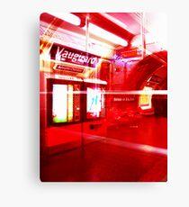 Red Metro Canvas Print