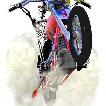 Skeleton on a bike. by fotokatt