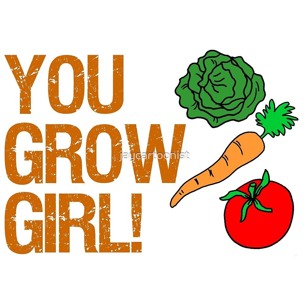 Usted Crece Chica Con Verduras De Dibujos Animados De Jaycartoonist