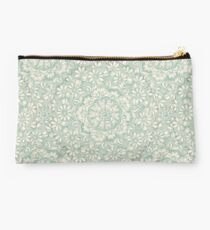 Sage Medallion with Butterflies & Daisy Chains Studio Pouch