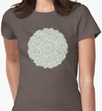 Sage Medallion with Butterflies & Daisy Chains Womens Fitted T-Shirt
