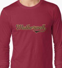 Motherwell City Scotland - Vintage Sports Typography Long Sleeve T-Shirt