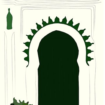 Green door traditionnal  t-shirt stickers by Mariokao