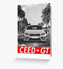 Ceed GT & quot; Redstriped & quot; Greeting Card