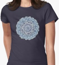 Indigo Medallion with Butterflies & Daisy Chains Womens Fitted T-Shirt