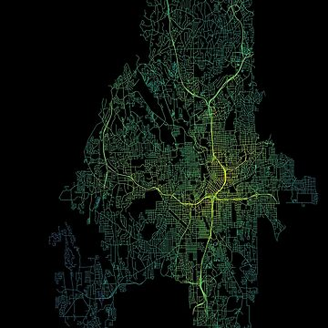 Atlanta, Georgia, USA Street Network Map Graphic by ramiro