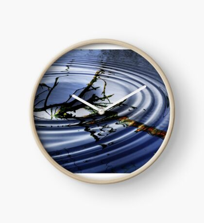 RIPPLED  WATERS Clock