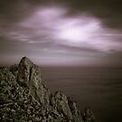 Out Crop of Rock on a stormy cold day by Matt Sillence